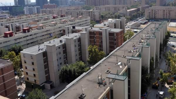 Vista del barrio de La Mina de Sant Adrià de Besòs.