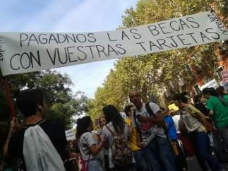 Protesta de los estudiantes en Madrid