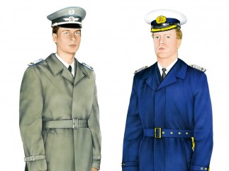 """Photochrom images, from """"Uniforms of the National People's Army of the GDR, 1956–1986,"""