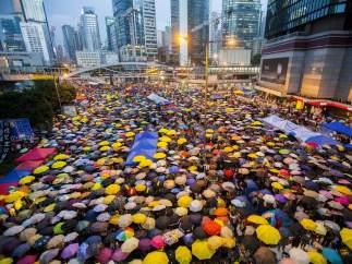 La 'Revolución de los Paraguas' sigue en marcha