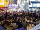 Manifestantes chinos en Hong Kong