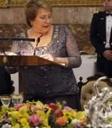 Cena de gala de los reyes de Espa�a a Michelle Bachelet