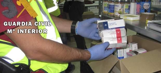 Desmantelan la mayor red de tráfico de medicamentos que eran vendidos en el extranjero