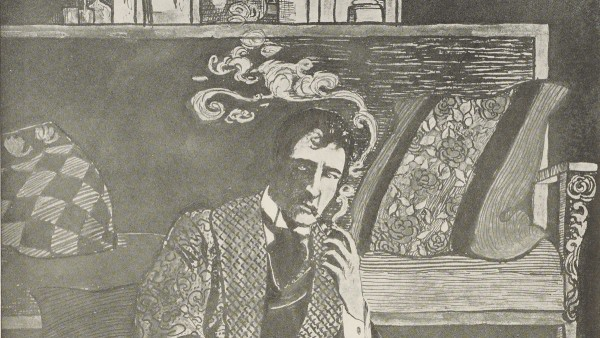 William Gillette as Sherlock Holmes. New York production Theatre Programme. Published by R H Russell of NY. 1900.