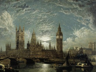 John Anderson, Westminster Bridge, Houses of Parliament seen from the River, 1872