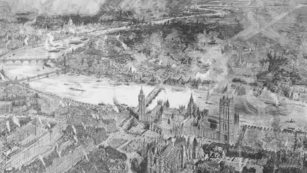 William Wyllie, Panorama Bird's eye view of London 1884