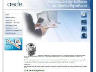 Web de AEDE hackeada