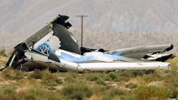 Avión accidentado de Virgin