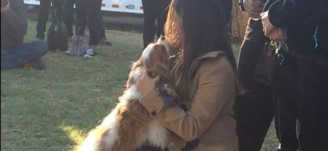 Nina Pham y su perro