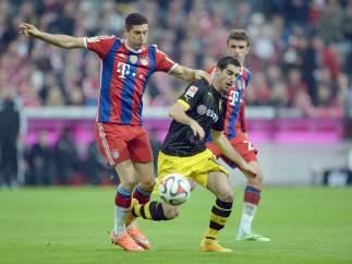 Lewandowski y Mkhitaryan