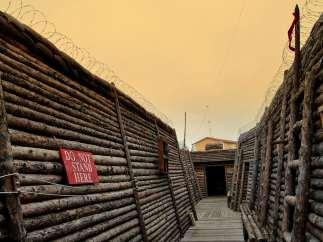Trinchera de la Primera Guerra Mundial, en Belorado