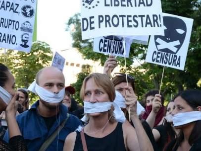 """Manifestaci�n contra la """"Ley Mordaza"""""""