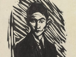 Print of Franz Kafka by Hans Fronius. 1937