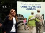La presidenta del Partido Popular catalán, Alicia Sánchez-Camacho, ante la nueva campaña de comunicación de la formación presentada durante la jornada participativa del 9-N.