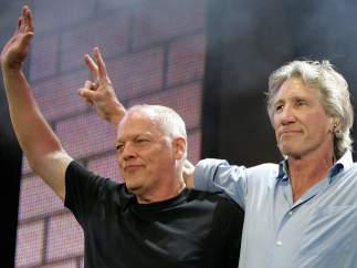 David Gilmour y Roger Waters