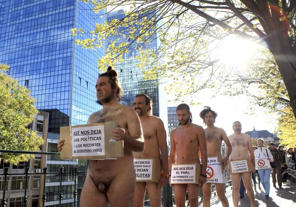 Protesta contra los recortes en el País Vasco
