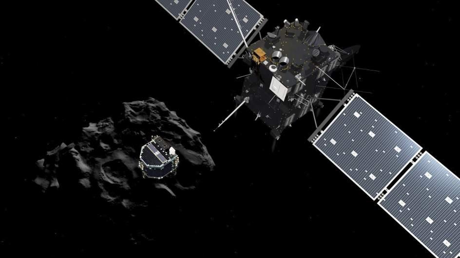 El módulo Philae desciende hacia el cometa