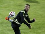 Sergio Ramos, en un entrenamiento con la selección