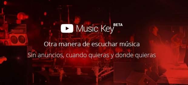 Imagen de la página web de la versión beta de Music Key