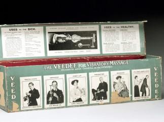 "Box for ""Veedee"" vibratory massager"