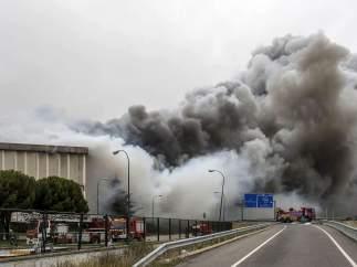 Incendio en la fábrica de Campofrío