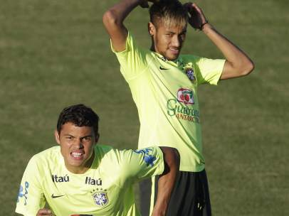 Thiago Silva y Neymar
