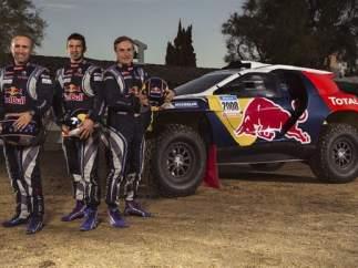 Carlos Sainz con el nuevo Peugeot