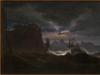 Ship in Breaking Waves, 1840s