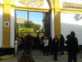 Expectación en el Palacio de las Dueñas de Sevilla