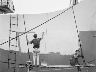 Carénage du navire. Canaries, 1964
