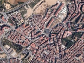 Vista aérea de la población de Blanes (Girona) en la Costa Brava.