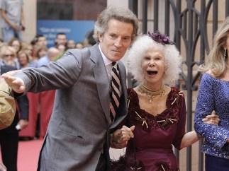 Cayetana Fitz-James Stuart y su marido Alfonso Díez
