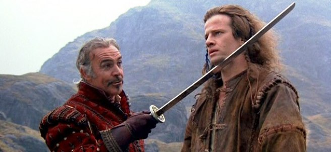 Sean Connery y Christopher Lambert en Los inmortales