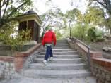 Escaleras en el parque de El Retiro