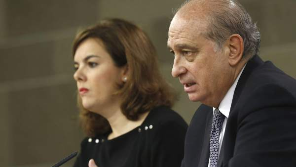 Soraya Sáez de Santamaría y Jorge Fenández Díaz
