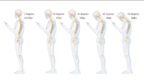 Móvil y espalda