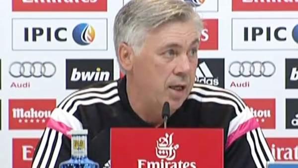 "Ver v�deo Ancelotti: ""Estoy muy contento con Iker"""