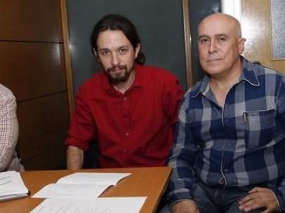 Pablo Iglesias con AUME