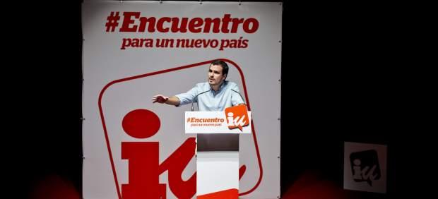 Garzón, ovacionado por los militantes, presenta a IU como la fuerza para cambiar el país