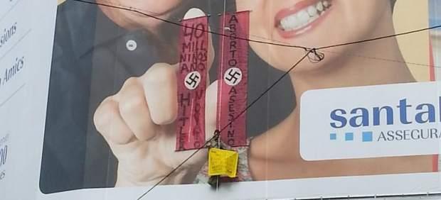 Detienen a un hombre por colgarse de la fachada de la Pedrera contra el aborto
