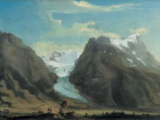 'Panorama des Grindelwaldtals mit Wetterhorn, Mettenberg und Eiger'