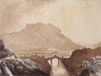 'Martorell (Barcelona). Paisaje con el Puente del Diablo'