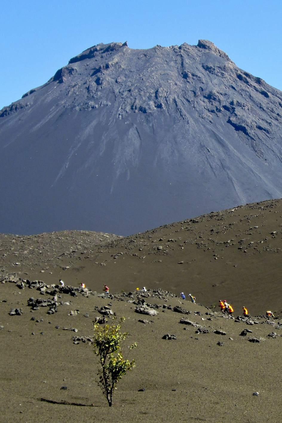 El volcán Fogo en Cabo Verde