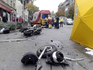 Fallece un motorista en Madrid