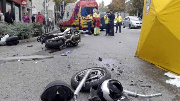 Fallece un motorista en Madrid
