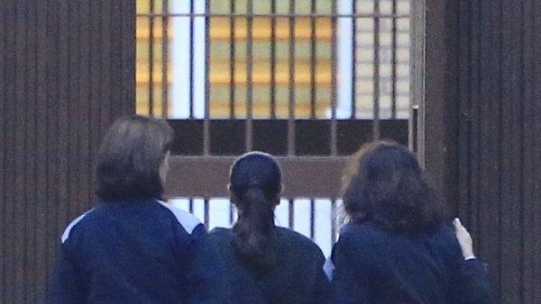 Isabel Pantoja en el momento de su ingreso en prisión