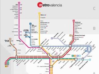 Nuevo esquema de líneas de Metrovalencia