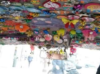 Detalle del interior del taxi de Segura