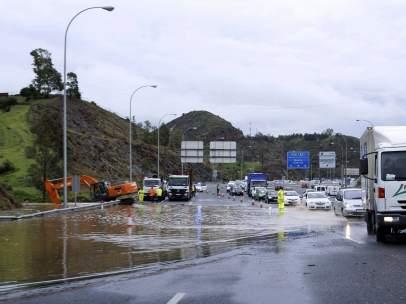 La A7 a su paso por Málaga.
