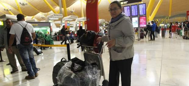 Plastificadores ilegales en Barajas